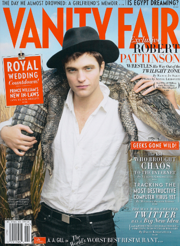 robert pattinson vanity fair pictures 2011. April issue 2011.